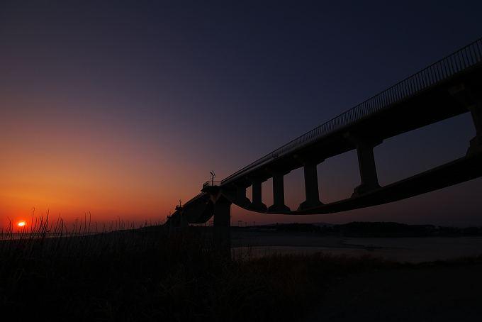 潮騒橋夕景 2