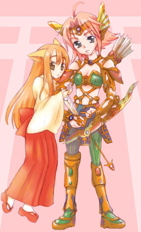 戦士と巫女