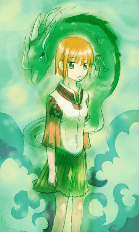 龍を背負う少女