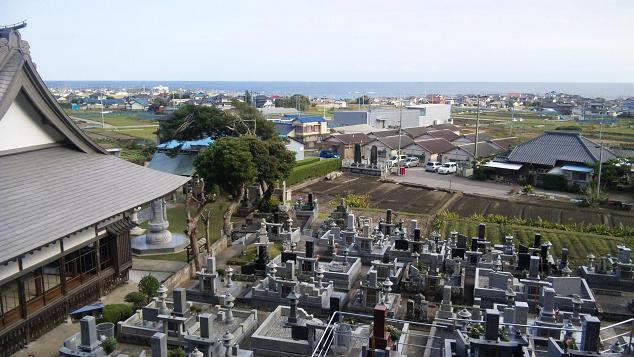 墓からの景色