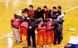 全日本18日-1 準決勝vs プレデター 円陣