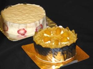 試食のケーキ