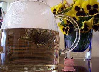 花咲くお茶。