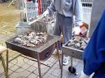 モーレツに焼かれる牡蠣w