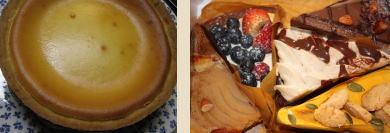 チーズケーキ&ア・ラ・カンパーニュ(秋色ケーキ)