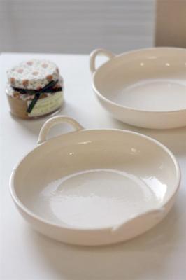 白釉グラタン皿