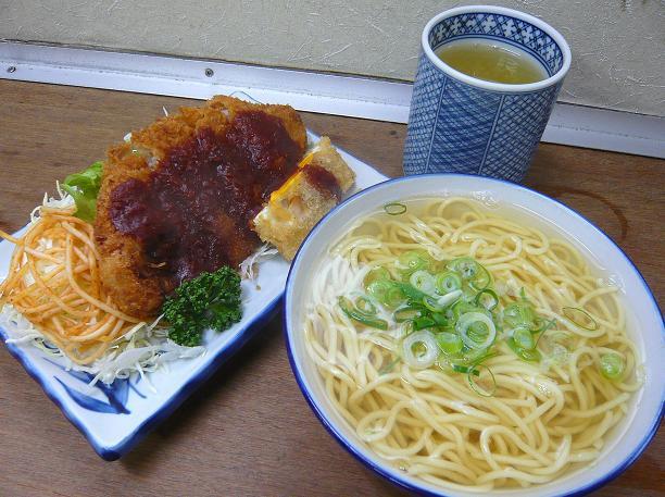 黄そば&トンカツ