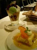 抹茶白玉パフェ&オレンジクレープ