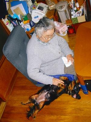 お祖母ちゃんとma'cherieママ