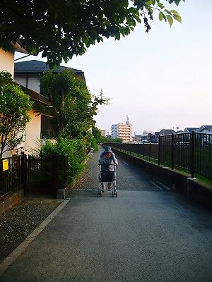 散歩中のお祖母ちゃん