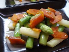 アスパラガスとからすみサラダ