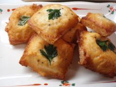 ササミのチーズトースト揚げ