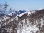 北アルプスの山並