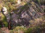 02落ヶ滝を上から眺める