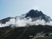 噴煙と茶臼岳2