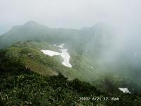 武尊山から剣ヶ峰山・西峰