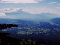 編笠から富士山