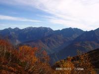 白馬~唐松への山並み