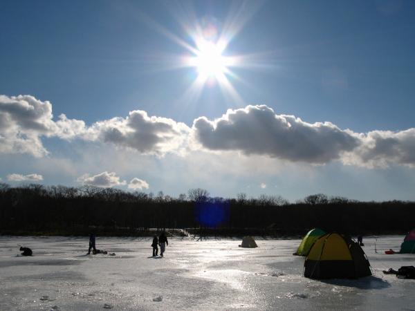 寒いから心配ないと思うけど氷が溶けたりはしないのか。。?