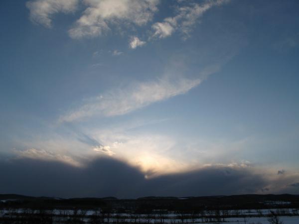 雲が厚いな~~