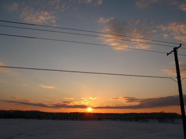 遠くに朝陽~