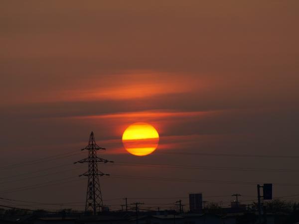 いつもの夕陽を。。。♪~