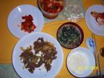 韓国風夕飯