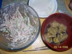 ワンタンと大根サラダ