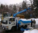 千葉への土産は雪