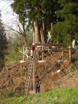 山小屋建設