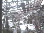 建設中の車庫