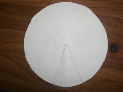 母乳パット型紙