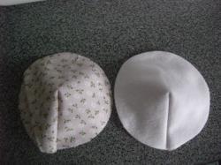 母乳パットダーツ部分の縫製2