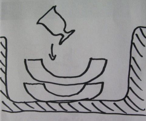 カップと灰皿の図