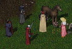 飼い馬に背を踏まれる