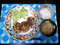 ニラ豆腐ハンバーグ