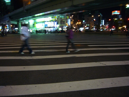 なんば高島屋前の大横断歩道