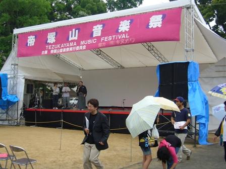 音楽祭のメインステージ