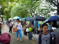 帝塚山音楽祭のフリーマーケット
