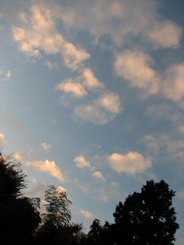 夕暮れの空の雲 003
