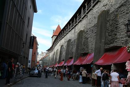 城壁のお店