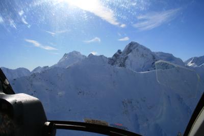 ヘリコプターからの景色