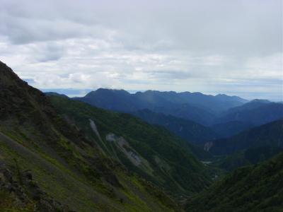 大谷崩の眺め