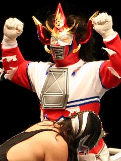 獣神メカマミー(コーナーポーズ・その2)