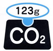 二酸化炭素排出マーク