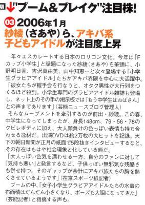 CIRCUS2006.7「2006上半期 ニッポンを騒がせた女たち」1