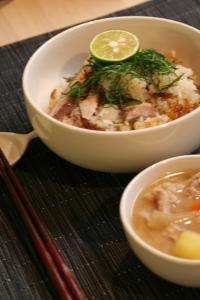 秋刀魚ご飯2