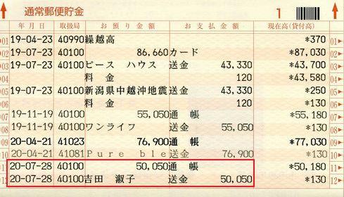 2008-7売上・募金報告1