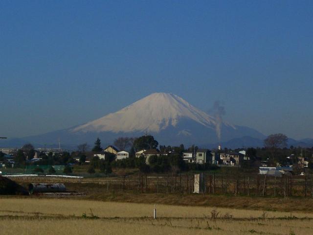 富士山:クリックして大きな画像でご覧下さい