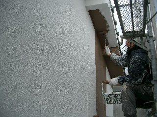 外壁 上塗り1回目 20.2.6